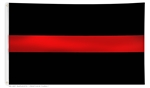 Thin Red Line Flag Solid
