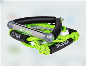 "2020 Ronix Bungee Surf Rope-10"" Handle Hide Grip-25ft 4-Sect. Rope"