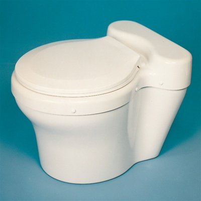 Dry composting toilet for use with waterless systems by Sun-Mar