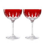 Waterford Crystal Lismore Pops Red Cocktail a pair