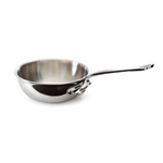 Mauviel  M'COOK CURVED SPLAYED SAUTE PAN & LID Cast stainless steel