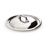 Mauviel M'cook Stainless Steel Lid, cast stainless steel handle, 8 in