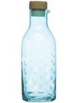 Sagaform Aqua Collection Drop Carafe with Cork Lid Turquoise