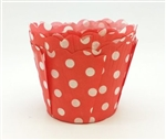 Cupcake liner red and white dots