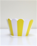 Cupcake liner yellow and white stripes 20 Count