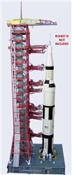 Launch Umbilical Tower (LUT) and MLP Model Kit in 1:110  scale for Lego or any 110 Saturn V Model.  The unbuilt heavy paper model has won accolades around the world since 2006 for its accuracy and realism and is designed to bear up well under load.