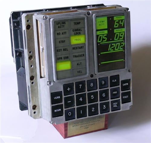 DSKY (DISPLAY KEYBOARD APOLLO GUIDANCE COMPUTER (AGC) FROM LM-5 ...