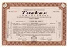 1948 Tucker Stock Certificate reprint, printed with the name of your choice.  Great gift idea!