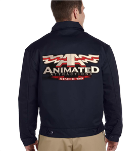 Animated Attractions Embroidered Dickies Jacket
