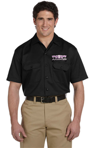 Animated Attractions Embroidered Dickies Work Shirt