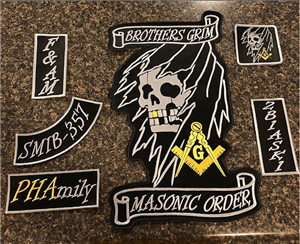 Brothers Grim Masonic Order Patch Set
