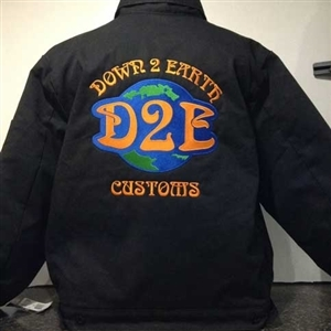 Down 2 Earth Embroidered Dickies 8 oz. Lined Eisenhower Jacket