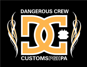 Dangerous Crew Customs Flame Screen Printed  Hoodie