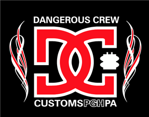 Dangerous Crew Customs Flame Screen Printed  T-shirt