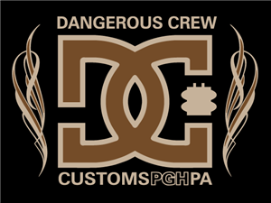 Dangerous Crew Customs Flame Embroidered  Dickies Lined Eisenhower Jacket