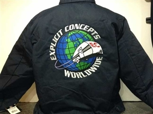 Explicit Concepts Embroidered Dickies 8 oz. Lined Eisenhower Jacket