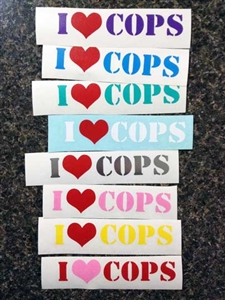 I Love Cops Decal