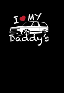 I Love my Daddy's Blazer Minitruck T-Shirt