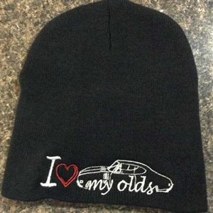 I Love my Olds Embroidered Beanie