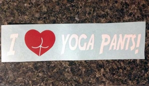 I Love Yoga Pants Decal