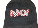 IMDI Checkered Stretch Fleece Beanie Embroidered