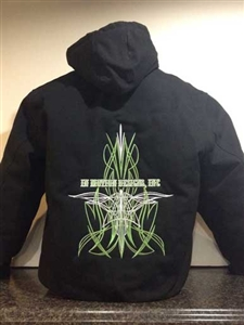 IMDI Pinstripe Embroidered Hoodie
