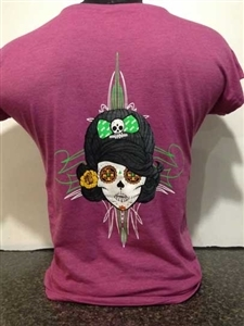Pin Up Sugar Skull T-Shirt