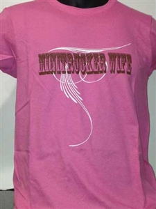 Minitrucker Wife Swirl Ladies T-Shirt
