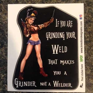Not A Welder Sticker