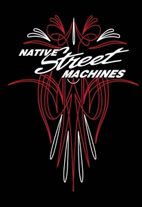 Native Street Machines Pin Stripe T-Shirt