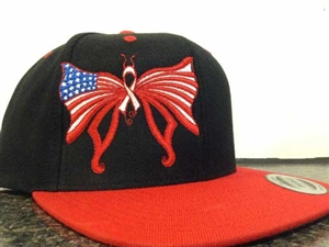 Patriotic Butterfly Embroidered Hat