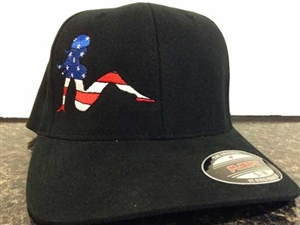 Patriotic Girl Embroidered Hat