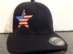 Patriotic Star Embroidered Hat