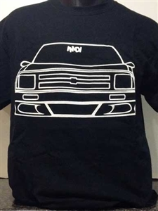 Slammed S-10 2nd Generation Mini truck T-Shirt