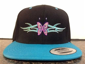 Tribal Butterfly Embroidered Hat