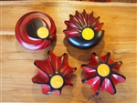 HANDMADE WOODEN CANDLE HOLDER (RED)