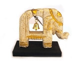 HANDMADE WOODEN ELEPHANT WITH BELL