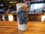 HANDCARVED WOODEN ELEPHANT BUM