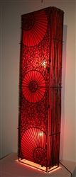 Red Bamboo Lamp