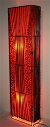 Orange Bamboo Lamp