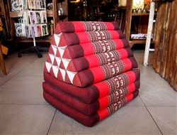 Thai Triangular Cushion (RED)