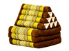 Thai Triangular Cushion (Brown/Green)