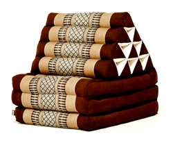 Thai Triangular Cushion (Brown)