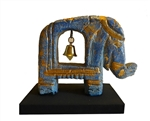 HANDCARVED WOODEN ELEPHANT WITH 1 BELLS