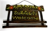 Welcome Sign (elephant carving)