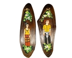 HANDPAINTED WOODEN TOILET SIGN - SET FOR 2