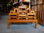 Handmade Wooden Set of Buddha Alter Table 9
