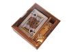 HANDMADE WOODEN GAME (CARD GAME AND DKES)
