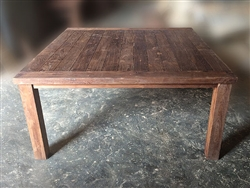 "S2DIO Teak Table #0028 - 161x161cm - 63"" x 63"""