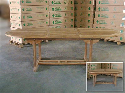 Ballyduff Oval Extension Table 180cm/240cm x 100cm